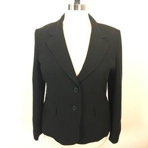 Ann Taylor Factory Black Two Button Blazer SZ 18